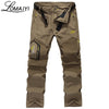 LOMAIYI Removable Cargo Pants w/ Zipper Pockets Army Green Black Khaki Tourism Trousers Pants Belt
