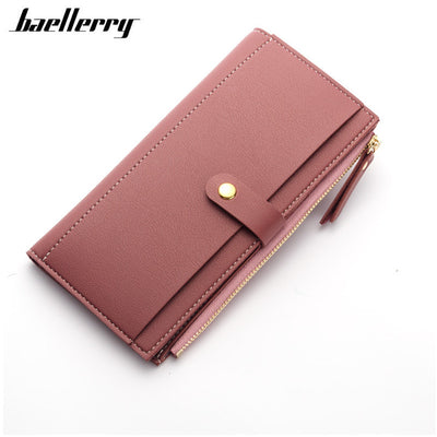 Long Solid Luxury Leather Wallet Clutch Money Coin Purse