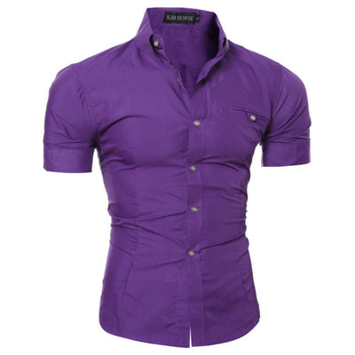 Luxury Slim Fit Formal Short Sleeve Stylish Shirts