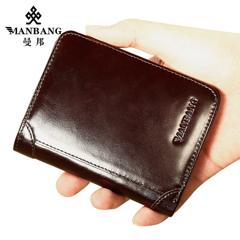 Gents Wallet MANBANG Classic High Quality Genuine Leather Men/'s Card Holder