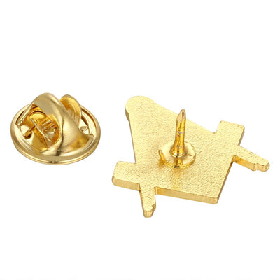 Masonic Compasses Freemason Mason Pin and Cuff links and Tie Clip Set