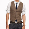 British Style Slim Wool single Breasted Sleeveless Jacket Waistcoat Suit