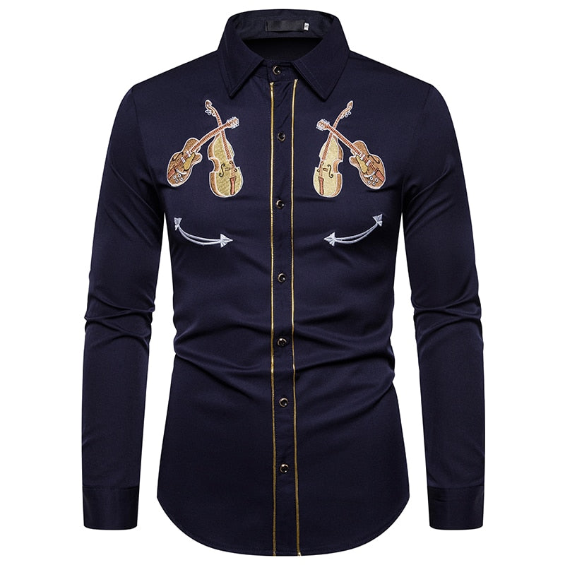 Men/'s Classic Slim Fit Long Sleeve Casual Western Oxford Shirts