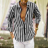 Winter Vertical Striped Slim Fit Long Sleeve Button Down Dress Shirts Shirt Men Casual