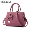 NIBESSER Shoulder Luxury Handbags Plum Bow Sweet Messenger Crossbody Bag
