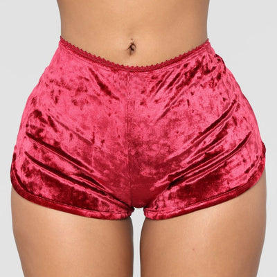 Ladies Sexy Velvet Crop Tops Lingerie Underwear Pajamas Bralette Panty Set