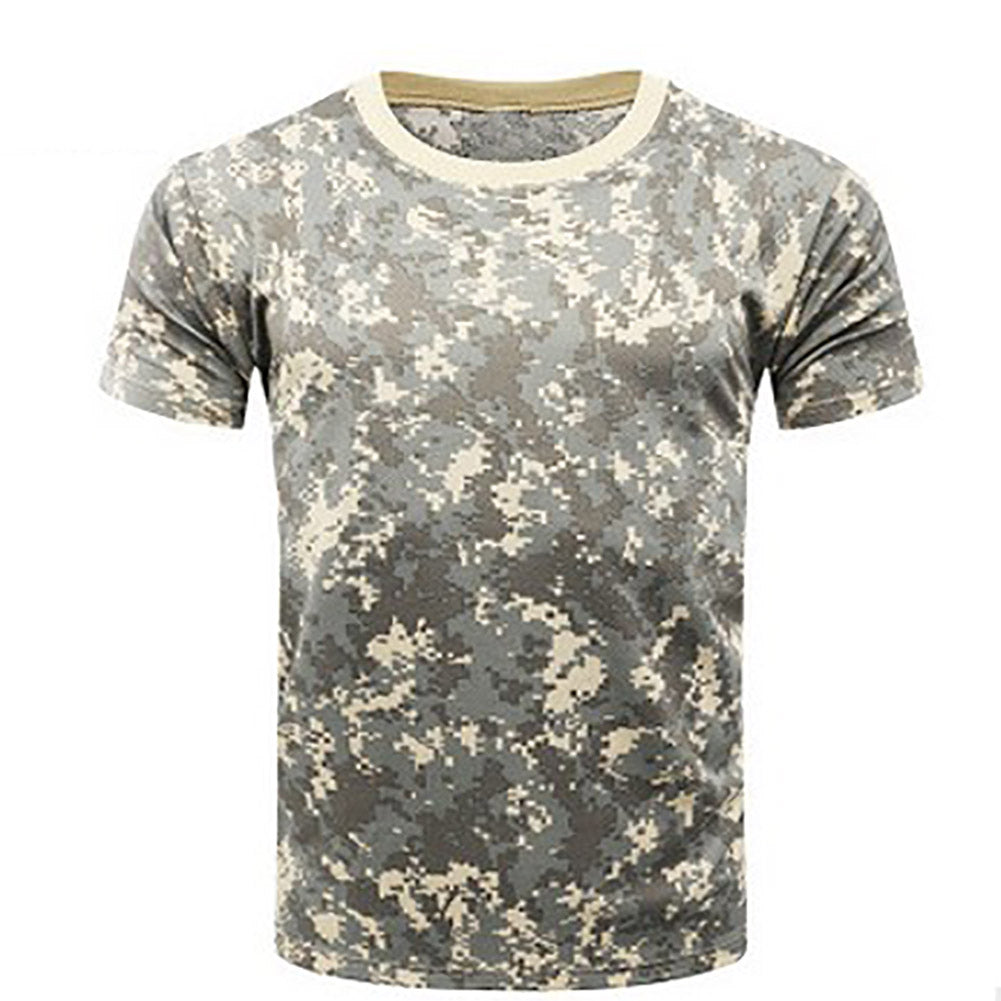 6975f24006a5 Camouflage Breathable Army Tactical Combat Military Dry Camo Camp T-Shirt