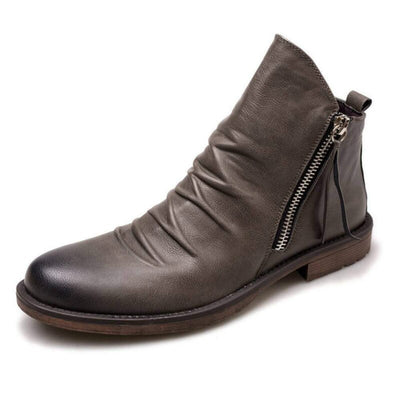 Original Leather Boots Leather Casual Boots Men Comfy Anti-Slip Lace-up Boots