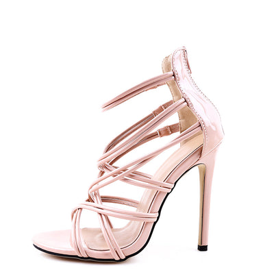 Platform High Heel Thin Ankle Strap Sandals