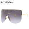 ROSANNA Vintage Shield Visor Mask Women Men Oversized Windproof One Piece Goggles Sun Glasses