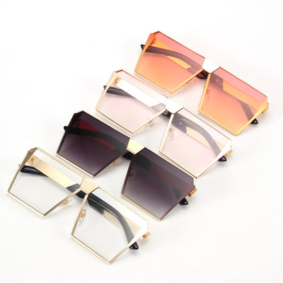ROYAL GIRL Unique Over-size Shield Gradient Vintage eyeglasses frames for Women