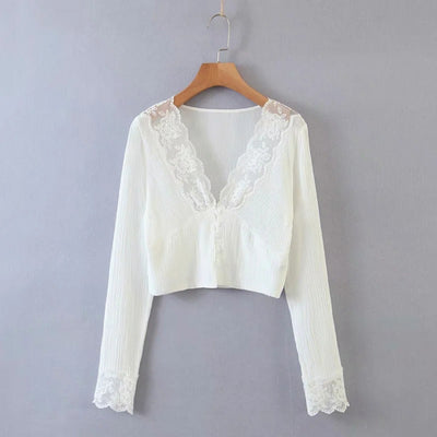 Women Fashion Bohemian Lace Tops SKU: #CF08657-1