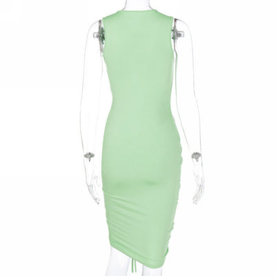 Styles Women Fashion Solid Color Summer Dress SKU: #CF22121