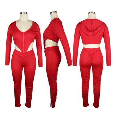 Styles Women Fashion INS Styles Fashion Tracksuit Suit SKU: #XF13277