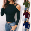Sexy Long Sleeve O Neck Off The Shoulder Causal Tops transparent blouse