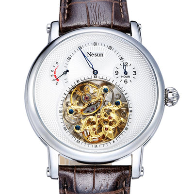 Switzerland Nesun Hollow Tourbillon Automatic Mechanical Watches Sapphire Waterproof