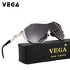 VEGA Oversize Designer High Quality Glasses With Pouch Metal Frame Super Wide Lens 18047