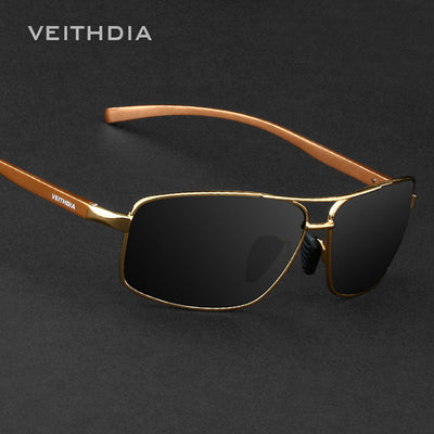 VEITHDIA Brand New Polarized Men's Sunglasses Aluminum Sun Glasses