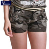 Vangull Camouflage Slim Fit Military zipper pocket Mini shorts overalls Combat cargo shorts