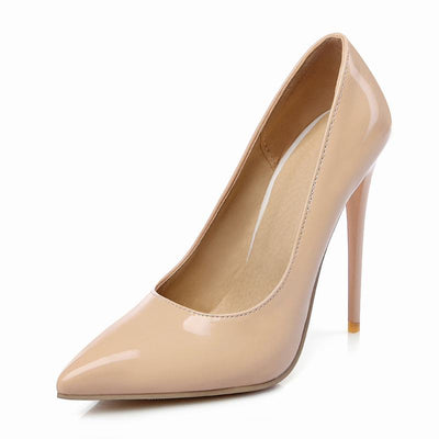 WETKISS Elegant Shallow Thin High Heels Pumps Pointed Toe Spring Summer Shoes