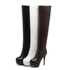 WETKISS  Autumn Winter Platform Round Toe High Heel Over The Knee Boots