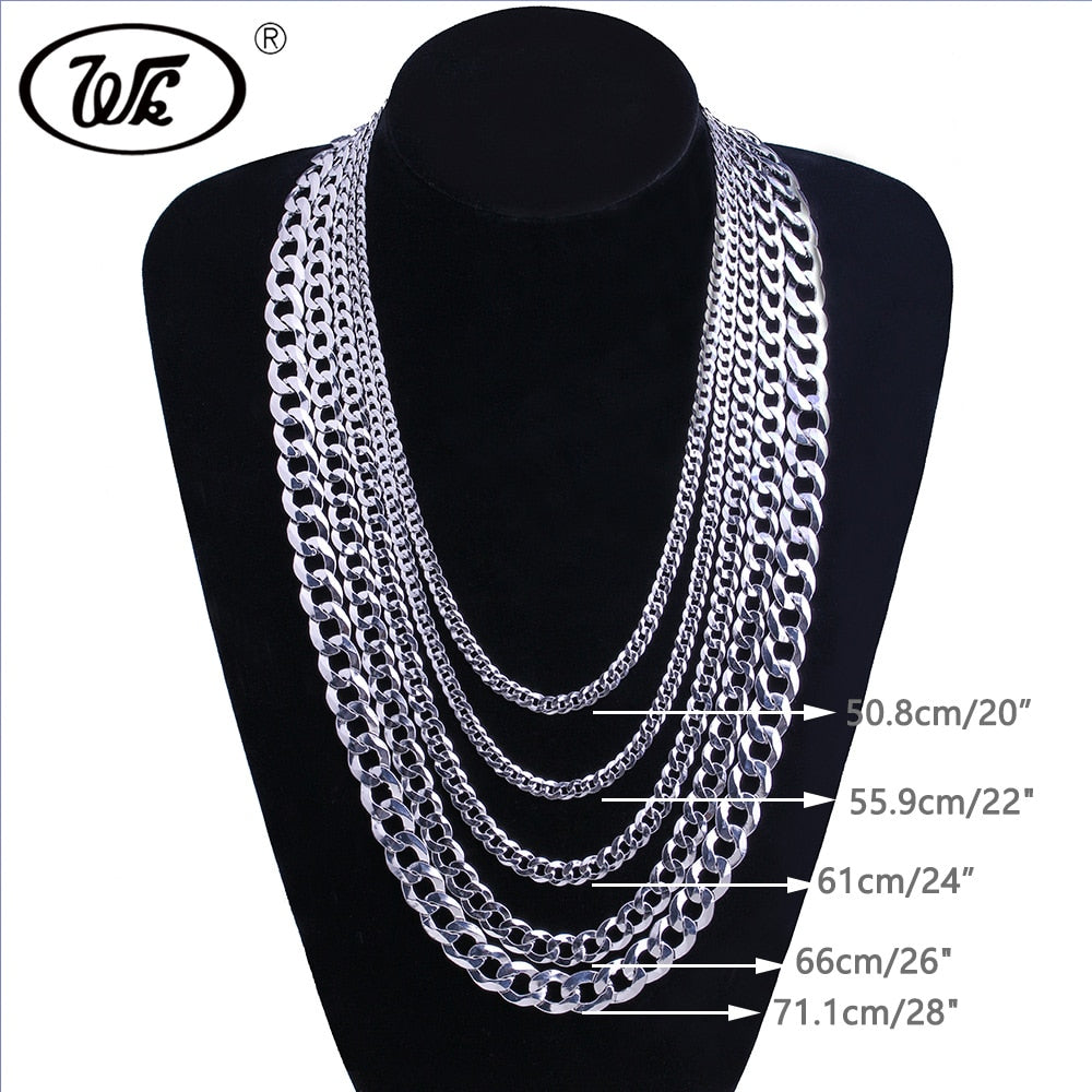 """925 Sterling Silver 30/"""" 4mm SQUARE Curb Link Chain Necklace 30inch long chain"""