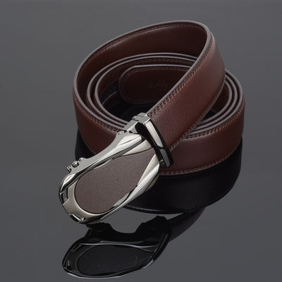 WOWTIGER Luxury designers leather automatic alloy buckle strap Belts for men