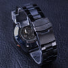 Black Stainless Steel Calendar Display Mens Watches Mechanical Automatic Watch Clock