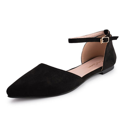Flats Shoes Black Ankle Strap  Mary Jane Good Match