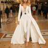 Long Sleeve V Neck Long Overalls Classy Formal Elegant Runway Jumpsuit Outfits