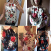 Floral Print Sleeveless Halter Necks Fashion Women blouses