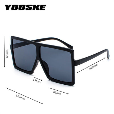 YOOSKE Over-sized Designer Vintage Sunglasses for Men/Female