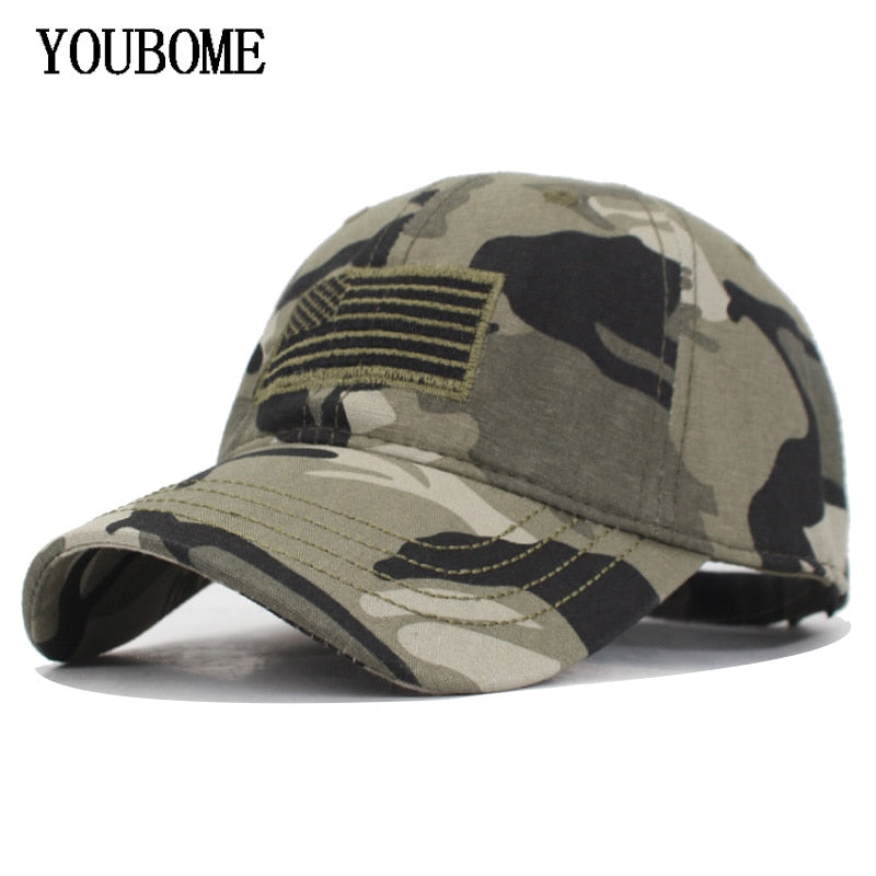 322e03cfe YOUBOME Camouflage Army Snapback Women/ Men Vintage US Flag Bone Dad Hat  Caps