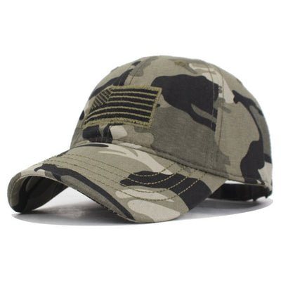 YOUBOME Camouflage Army Snapback Women/ Men Vintage US Flag Bone Dad Hat Caps