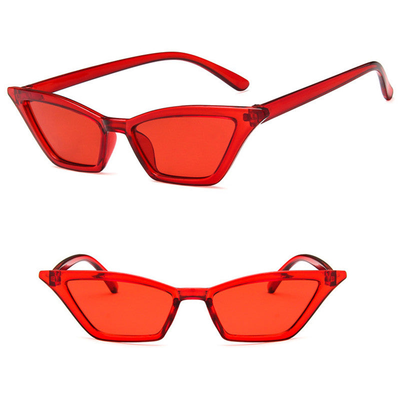 ae6b1b004446a iboode Vintage Cat Eye Designer Retro Small Red Sunglasses - Live a ...