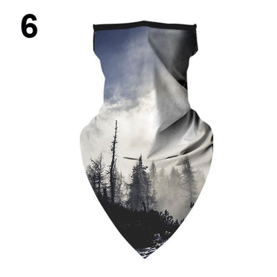 1PC Printing Style Multi-function Half Face Mask Neck Cover Scarf Anti-UV Cycling Bandana Headwear