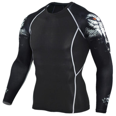 Mens Compression Shirts 3D Teen Wolf Jerseys Long Sleeve