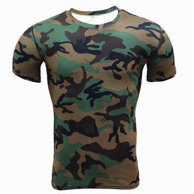 Base Layer Camouflage Fitness Tights Quick Dry Crossfit Compression Shirt
