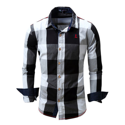 Men Long Sleeves Shirt Cotton Denim Shirt
