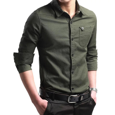 New Men's Long Sleeved Cotton Shirts