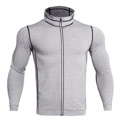 Top Quality T Shirts Sweatshirts Fitness  Compression Zipper Reflective Breathable Jersey