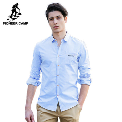 Pioneer Camp spring long sleeve slim fit casual cool business social Dress shirt