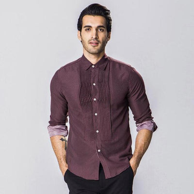 HEE GRAND  Western Style Folded Stylish Design Male Casual Shirts Size M-XXL