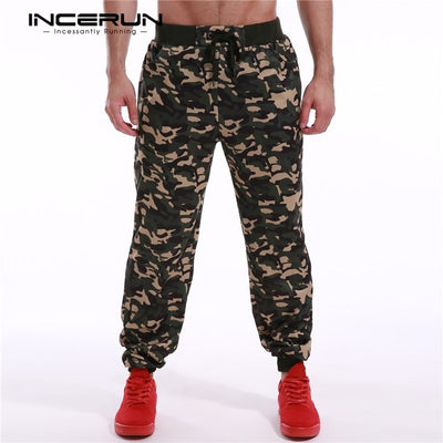 Camouflage Sweatpants Men's Long Track Pants Army Camo Tactical Baggy