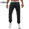 INCERUN Sweatpants Casual Drawstring Trousers Joggers Men Sportswear
