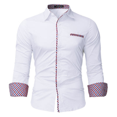 Casual Slim Long Sleeve Formal Cotton Dress Shirt