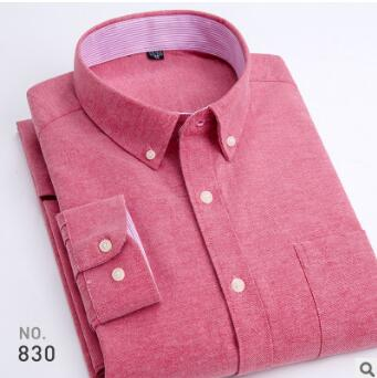Men's Long Sleeves Shirt Men's Solid Business Wrinkle Free Shirt