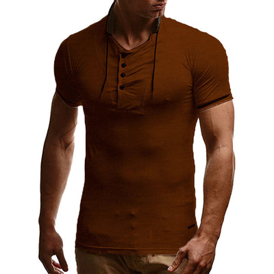 Short Sleeves T Shirt Hooded T-Shirt Trends Solid Color Sweatshirt