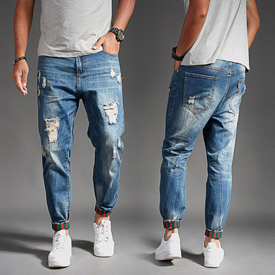 Men's Fashion Summer Thin Section Holes Jeans