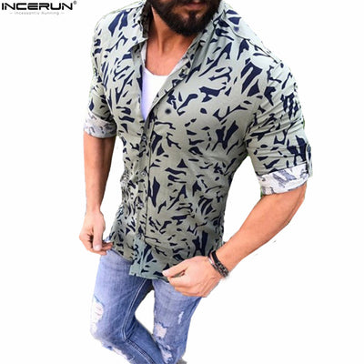 Camo Casual Long Sleeve Printed Camouflage Spring Dress Shirt